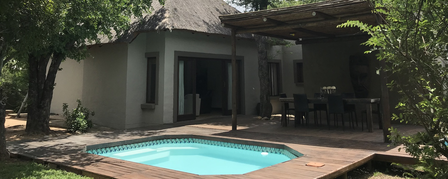 River Lodge 1,Private Pool,Self Cater Safari Bush Lodges